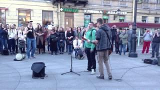 Музыканты на Невском (Noize MC - Из окна)