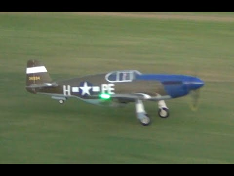FMS RC P-51B Mustang Dallas Darling 1450mm Dusk Flight