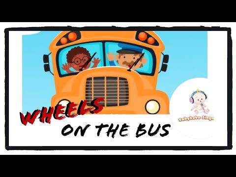 The Wheels On The Bus Go Round And Round with lyrics - Sing Along Nursery Rhymes (2019)