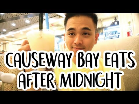 Causeway Bay WHAT TO EAT AFTER MIDNIGHT IN HONG KONG