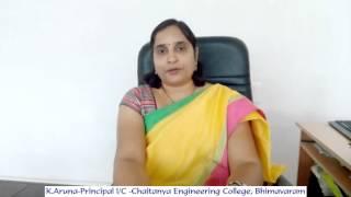 k aruna principal i c chaitanya engineering college bhimavaram