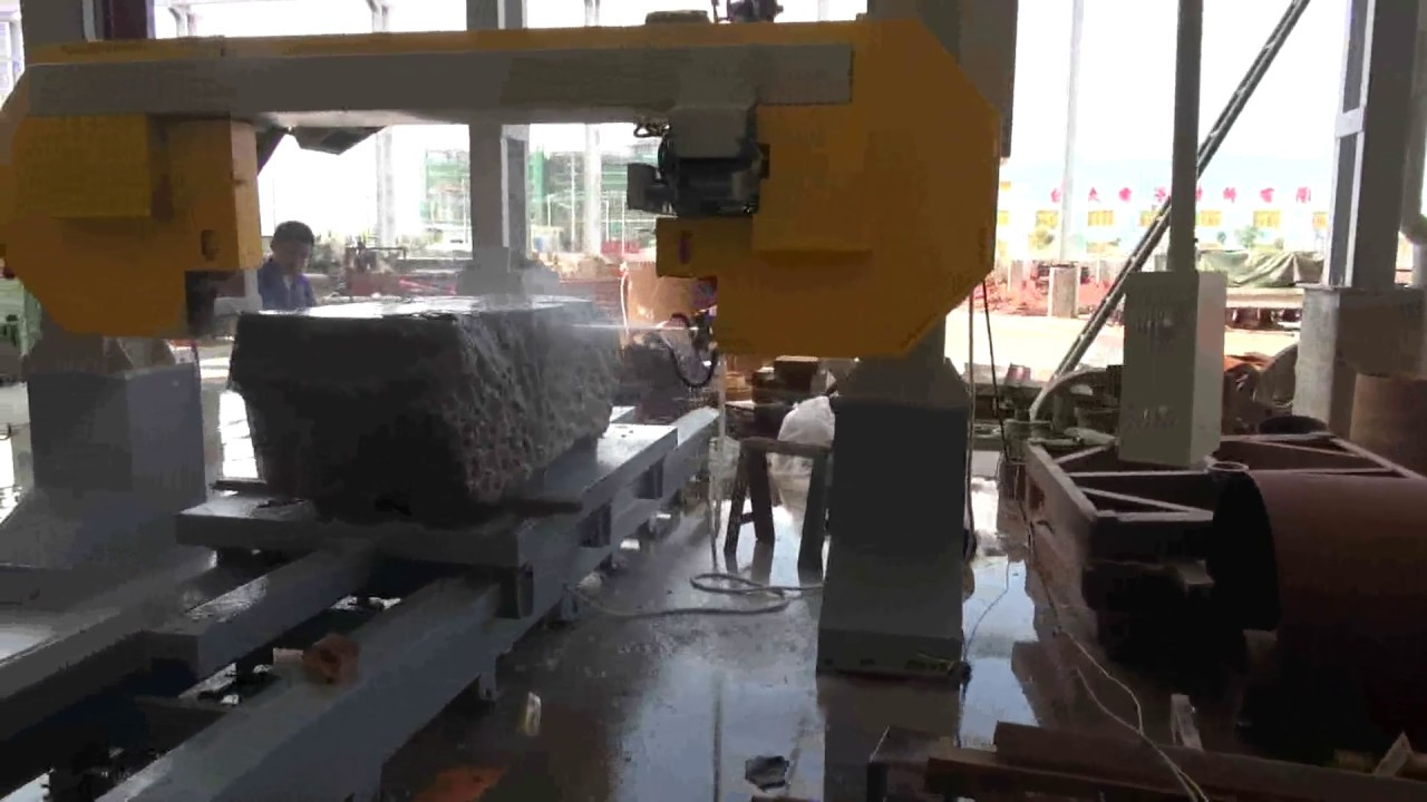 THIN SLAB CUTTING MACHINE, band saw cutting machine - YouTube