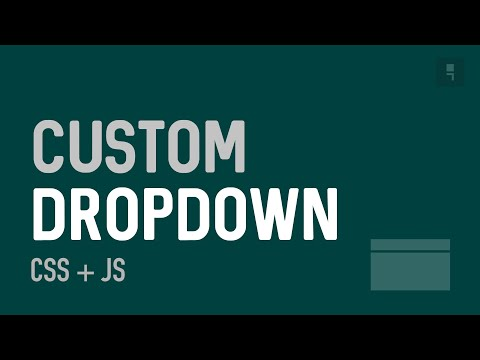 Custom Accessible Dropdown - How to create a custom dropdown/select with css and javascript