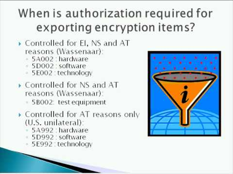 Understanding Export Controls for Encryption Items