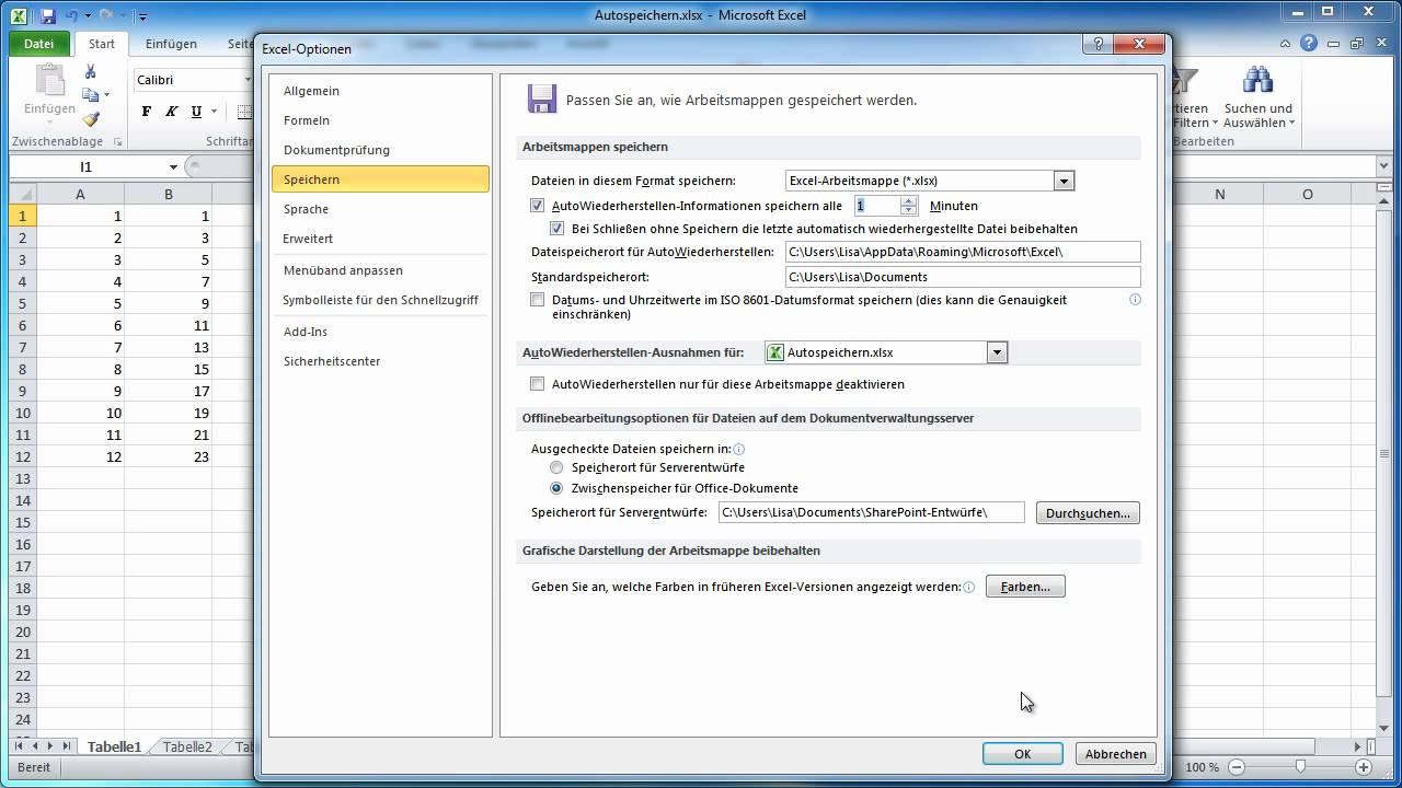 Excel 2010 - Dokumentversionen verwalten und vergleichen - YouTube