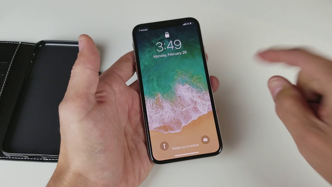 Iphone X How To Turn On Camera From Lock Screen Youtube