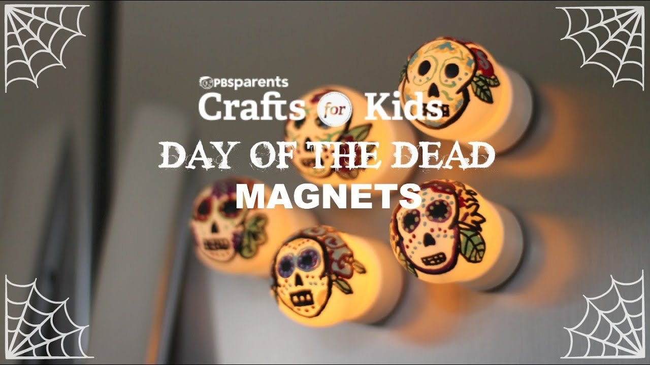 Day of Dead Candle Magnets | Crafts for Kids | PBS Parents