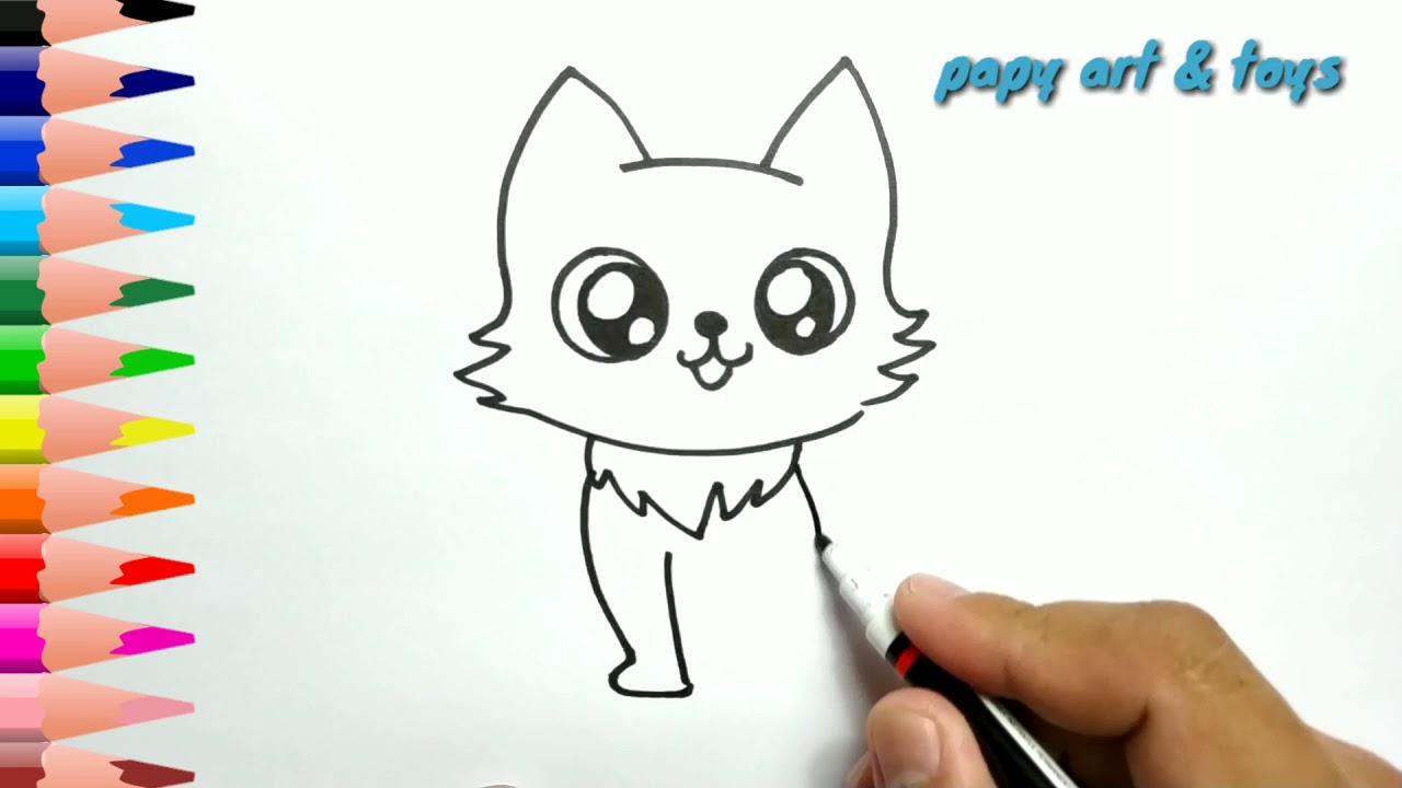 Ajaib Belajar Cara Menggambar Mewarnai Kucing Lucu Kartun Dengan Mudah Anak Indonesia Menggambar Youtube
