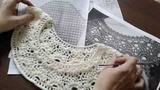 Пуловер крючком с круглой кокеткой. Часть 7.