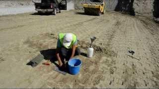 kil sıkıştırma deneyi - kum konisi deneyi  (KKTC Geçitköy Barajı)
