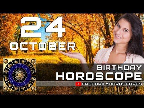 October 24 - Birthday Horoscope Personality