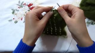 Вязание шарфа из мохера узором