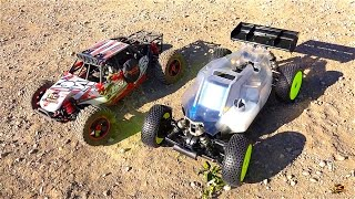 RC ADVENTURES - BUiLDiNG a 5IVE-B RACE KIT: 1/5 4WD BUGGY ROLLER! PT 2 - COMPLETE
