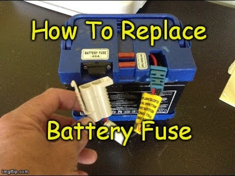 How To Replace Power Wheels Battery Fuse On Peg Perego