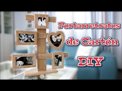 diy-cardboard-photo-frames-|-crafts,-recycling-and-decoration