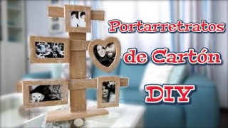 DIY cardboard photo frames | Crafts, recycling and decoration