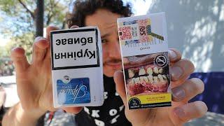 Así son las advertencias en cigarros de diferentes países | ¿REALMENTE SIRVEN? 🚬