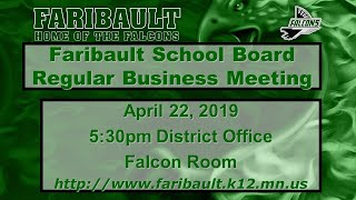 Faribault Public Schools Board of Education Live Stream