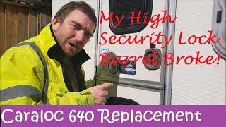 CARAVAN//MOTORHOME CARALOC 640 DOOR LOCK HANDLE WITH KEYS RIGHT HAND