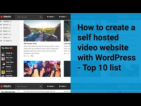 How to Create a self hosted video #website with #WordPress -Top 10 List