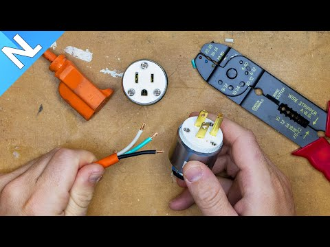 How to fix an extension cord end