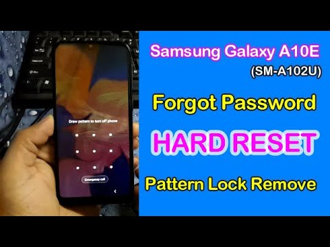 Samsung Galaxy A10e Hard Reset Forgot Password Pattern OR Pin