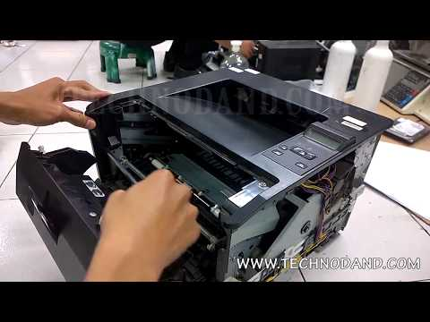 How to Replace Fuser Film Sleeve And Pressure Roller HP Laserjet Pro 400 m401n - Part 1