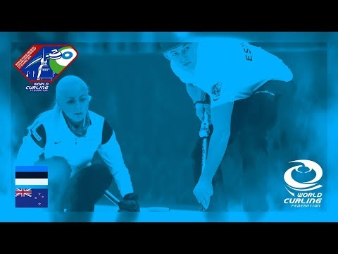 Estonia v New Zealand - Round-robin - World Mixed Doubles Curling Championship 2018