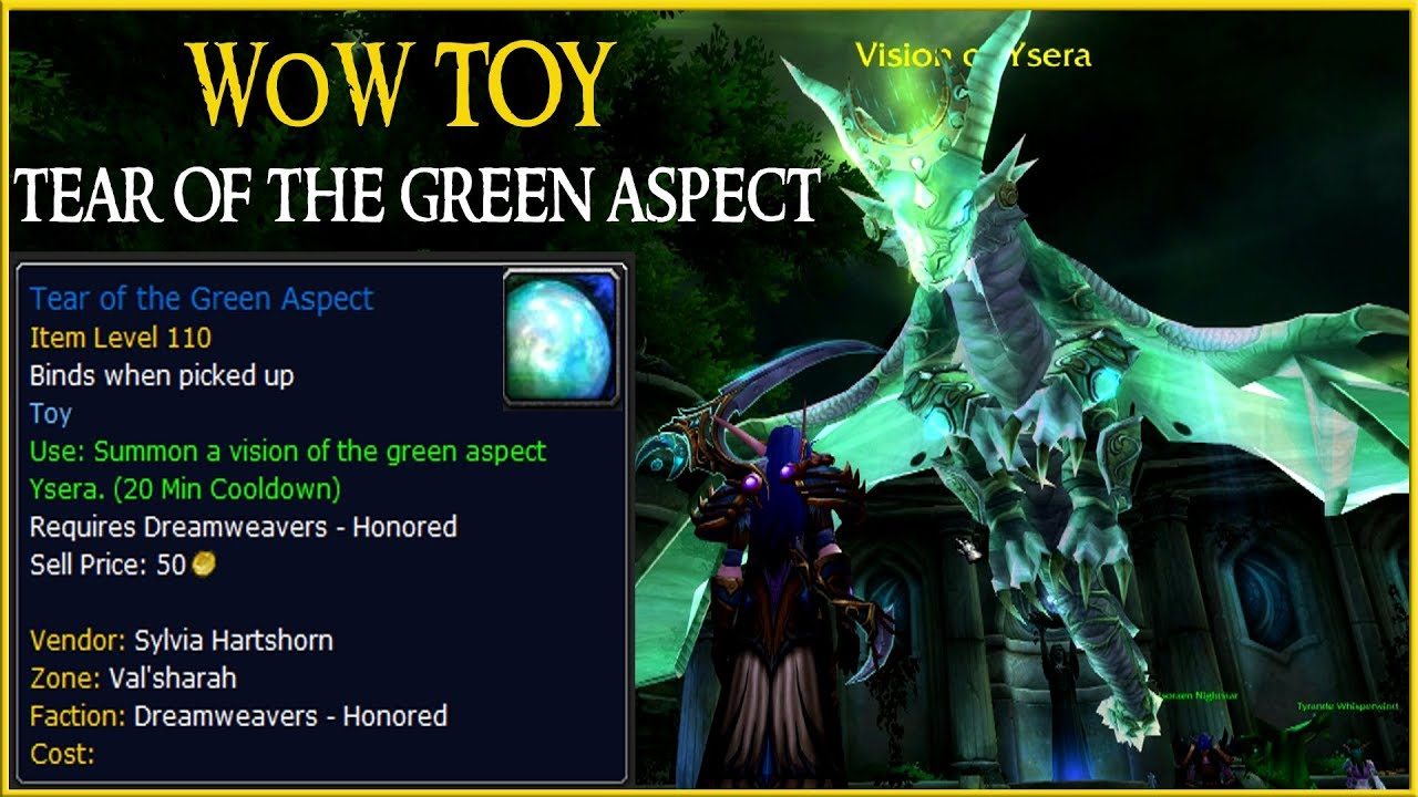 Wow Toy Tear Of The Green Aspect World Warcraft
