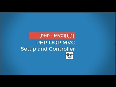 PHP OOP MVC - setup and controller - 01