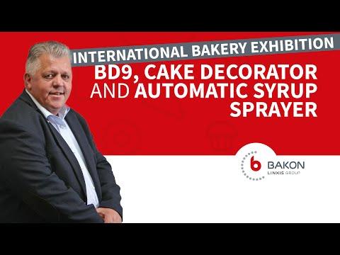 BD9, Cake Decorator And Automatic Syrup Sprayer | Bakon Food Equipment