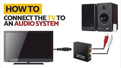 How to connect TV to RCA Audio System | Optical to RCA