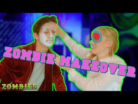 Zombie Makeover 👄   Z-O-M-B-I-E-S Challenges   Disney Channel