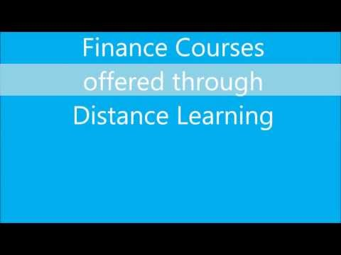 Finance courses through distance education in India