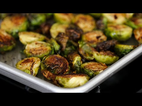 Crispy Charred Roasted Brussel Sprouts With Balsamic Vinegar Recipe