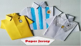 Make world cup jersey using paper || Brazil, Argentina & Germany home kit