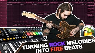 MAKING A GUITAR SAMPLED BEAT IN FL STUDIO! | TURNING ROCK MELODIES INTO TRAP BEATS