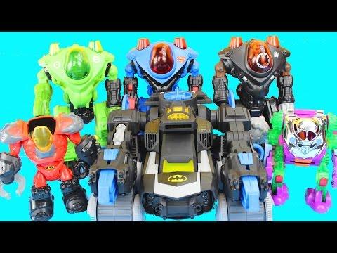 Imaginext Robot Wars with Batman Robin Green Lantern Superman Joker Lex Luther DC Superhero Batbot