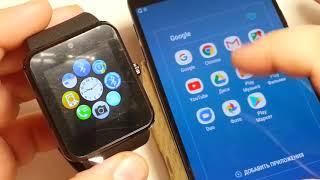 Як налаштувати розумні смарт годинник GT08 gt08 DZ 09 A1 Smart Watch