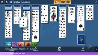 Microsoft Solitaire Collection - Spider [Medium] | August 18th 2019: Solve the deck