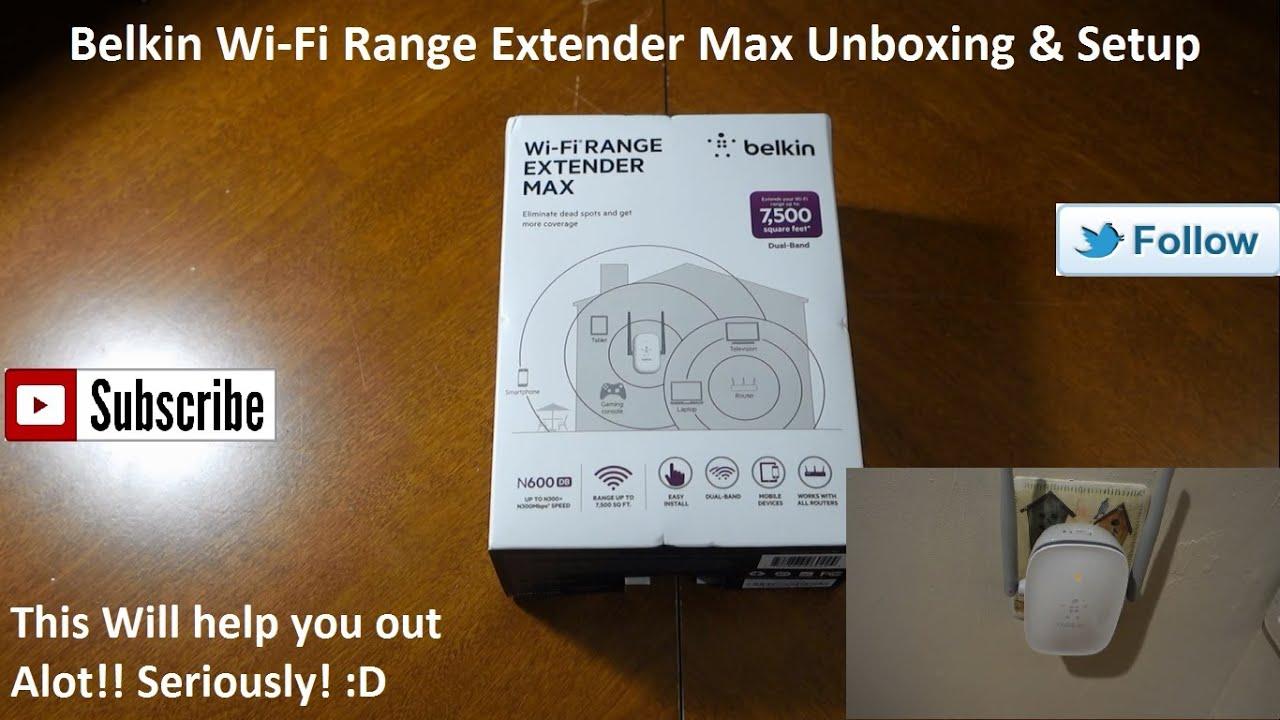 Belkin n300 simple start, easy setup wi-fi range extender, extend.