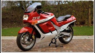 "FOR SALE £2,995 (NOW SOLD) 1988 Kawasaki ZX10 B1 ""Tomcat"" walk around & start up. Just 18,800 miles"