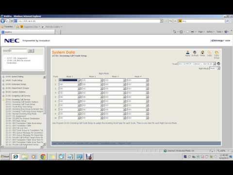 NEC Univerge SV8100 Configuration