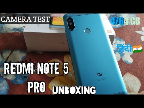 REDMI note 5 pro blue 4/64 gb unboxing☺️☺️|xiaomi review,prices,specifications,by station of tech