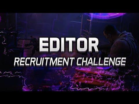 Editor & Designer Recruitment Challenge - Team Vortex
