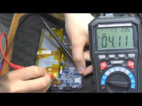 Как проверить батарею на планшете