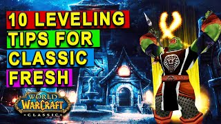Top 10 Leveling Tİps for Fresh Classic WoW