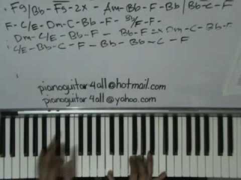 bed of roses  bon jovi  piano  accompaniment tutorial