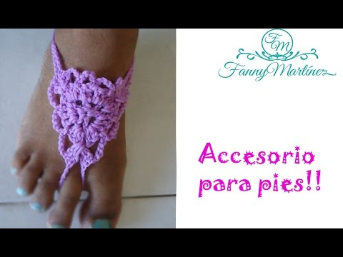 DIY-Crochet SANDALIAS PIES DESCALZOS | BAREFOOT SANDALS | - YouTube