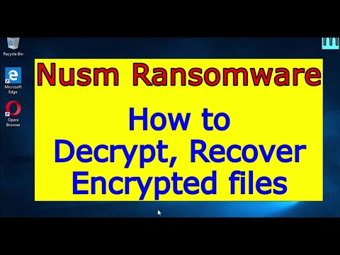Nusm virus (ransomware). How to decrypt .Nusm files. Nusm File Recovery Guide.